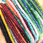 """Faceted 2x4mm Natural Rondelle Gemstone Abacus Loose Beads 15"""" Strand"""