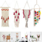 Hot Handmade Tassel Bohemian Macrame Woven Wall Hanging Knitting Tapestry Decor~