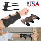 Leather Shooting Archery Arm Guard Bow Protective Gear 3 Straps Armband USAar