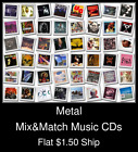 Metal(2) - Mix&Match Music CDs U Pick *NO CASE DISC ONLY*