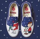 VANS UNISEX PEANUTS BY SCHULZ CLASSIC SLIP ON CHARLIE/TREE SKATE SHOES NWT