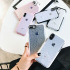 For iPhone 7 Plus 8 Plus X Case Clear Diamond Cute Shockproof TPU Silicone Cover