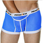 MANVIEW Sexy mens mesh see thru underwear boxer shorts lingerie comfortable