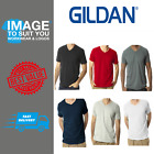 Gildan Mens Soft Style V Neck T-Shirts 100% Cotton All Colours S-3XL