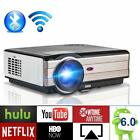 1080p HD Bluetooth Projector Android Home Theater Basement Movie HDMI Backyard