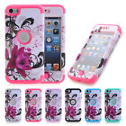 For Apple iPod Touch 5 6 Case Lotus Series Hybrid Dual Layer PC+ TPU Case Cover