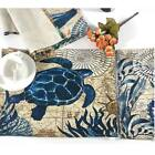 Внешний вид - Marine Sea Printed Placemats Tableware Dining Kitchen Table Cotton Linen Mats