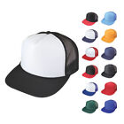 100 Lot Flat Bill Blank 5 Panel Mesh Foam Trucker Baseball Hats Caps Wholesale