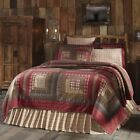 TACOMA QUILTS & ACCESSORIES SELECTION Primitive Red Log Cabin Set VHC Brands