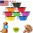 2pcs Silicone Pet Dog Puppy Food Water Collapsible Travel Eating Bowl Feeder USA