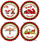 Personalised Christmas Stickers for Gifts / Sweet cones / party bags etc - 04-01