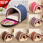 Small Pets Bed House Washable  Dog Cat Puppy Cushion Mat Pad Blanket Cave Nest