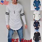 Fashion Men's Muscle Tee T-shirt Casual Tops Slim Fit O Neck Long Sleeve Blouse image