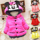 Toddler Baby Girl Mickey Hooded Jacket Coat Winter Warm Thic