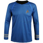 Captain Kirk Star Trek Adult Mens Costume Scotty Or Spock Shirt Fancy Uniform on eBay