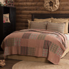 CLEMENT Farmhouse Quilt - Choose Size & Accessories - Patchwork Bedding VHC image
