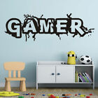 GAMER Vinyl Wall Art Decal Removable PS4 Xbox Video Game Roo
