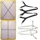 Sheet Bed Suspenders Fitted Band Straps Adjustable Cross Grippers Corner Holder image