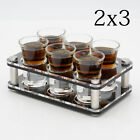 6 Shot Glasses Party Set With Acrylic liquor Holder For Tequ