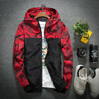 Men's Waterproof Windbreaker Zip Jacket Hoodie Light Sports Riding Outwear Coat