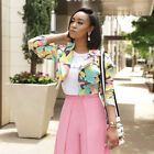 Women Long Sleeves Fresh Camouflage Print Casual Club Party Short Coat Jacket