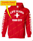 PERSONALIZE CUSTOM LIFEGUARD PULLOVER HOODIE JACKET SAFETY POOL STAFF SWEATSHIRT $31.34 USD on eBay