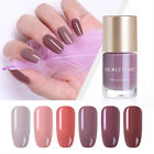 NICOLE DIARY Nude Color Nail Polish Quick Dry Nail Art Salon DIY 6 Colors 9ml
