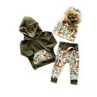 Kyпить US 2Pcs Newborn Kids Baby Girl Boy Fox Hooded Tops Pants Autumn Outfits Clothes на еВаy.соm