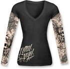 Lethal Threat Women's Long Sleeve Skull & Tattoo #