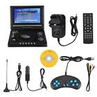 "7.8"" Portable DVD Player 270° Swivel Screen Rechargeable USB MP3 Video TV Game"