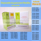 1000pc Disposable Acupuncture Spring Handle Needles Guide Tube ZhongYan