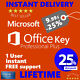 Office 2016 Microsoft Key Professional Plus Lifetime Genuine Download License MS