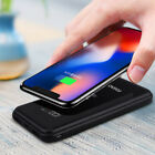 20000mAh Power Bank Qi Wireless Charging 2USB LCD Charger For Apple iPhone XS XR