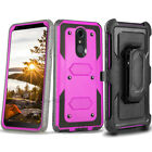 REFINED SHOCKPROOF ARMOR Belt Clip Holster Case Cover +BUILT-IN SCREEN PROTECTOR