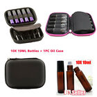 10ml Amber Roller Glass Bottle Essential Oil Case Hold Storage Aromatherapy Bag