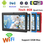 7inch 8GB Android 4.4 HD IPS Touch Screen Tablet PC Quad Core WiFi Dual Camera