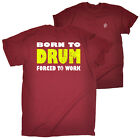FB Music Tee Born To Drum Novelty Birthday Christmas Gift Present Mens T-Shirt