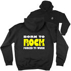 FB Music Hoodie Born To Rock Novelty Birthday Christmas Gift Hoody Jumper