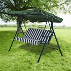 Large 3 Seater Garden Hammock Swing Seat Outdoor Patio Canopy Steel Bench Chair