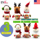 Christmas Snowman Santa Candy Filler Storage Bottle Xmas Party Decor Box Gift