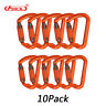 10pcs Climbing Carabiner Twist Lock 30KN D Shape Auto Self Locking Safety Gate