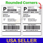 400-100 Shipping Labels 2 Per Sheet 8.5 x 11 Half-Sheet Rounded Corner Label