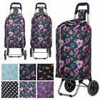Hoppa Lightweight Funky Design 2 Wheel Folding Shopping Trolley Large Shopper