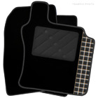 Lexus RX 300 / RX400 (1998 - 2003) Tailored Black Car Mats & Tartan Logo (R)