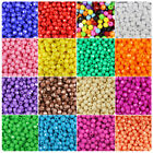BeadTin Opaque 8mm Faceted Round Craft Beads 450pcs - Color choice
