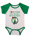 Boston Celtics Love Watching With Grandpa Baby Short Sleeve Bodysuit Green on eBay