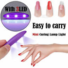 Mini 6W LED UV Nail Gel Curing Lamp Light Nail Gel Polish Dryer Nail Art Machine
