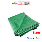1x - 3m x 5m Green Tarpaulin Heavy Duty Waterproof Cover Ground Sheet FAST CHEAP