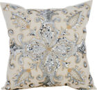 Ivory Decorative Pillow Covers, Silk fabric 16x16 Inch -Millennium