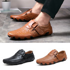 New Fashion Mens Driving Moccasins Shoes Leather Loafers Slip Casual Flats USA
